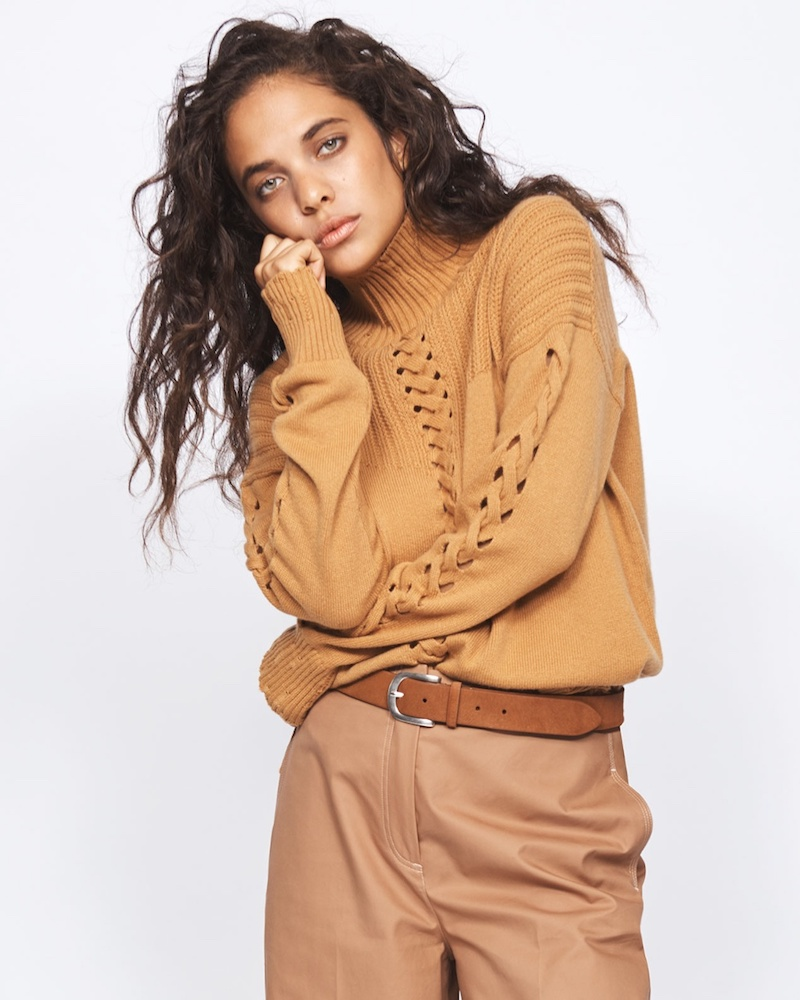 Barrie Twisted Tales High-Neck Cashmere Sweater