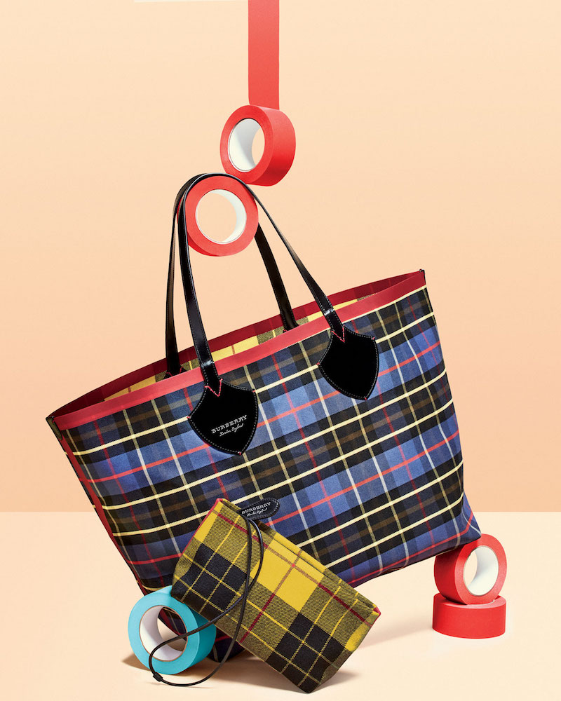 Burberry XL Reversible Check Tote Bag