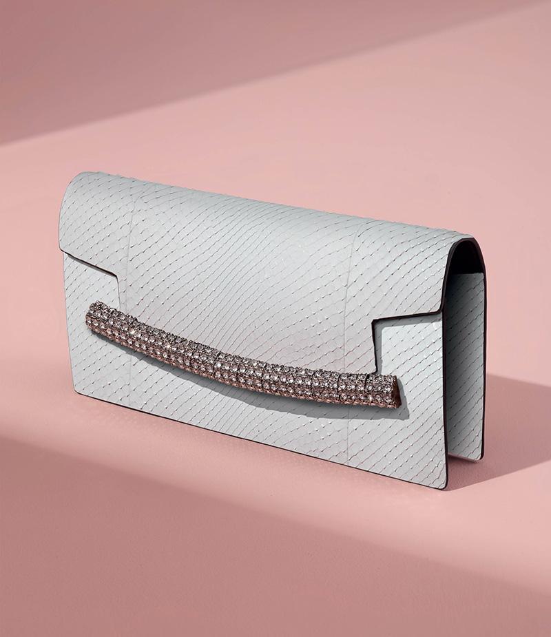 Calvin Klein Python Envelope Clutch
