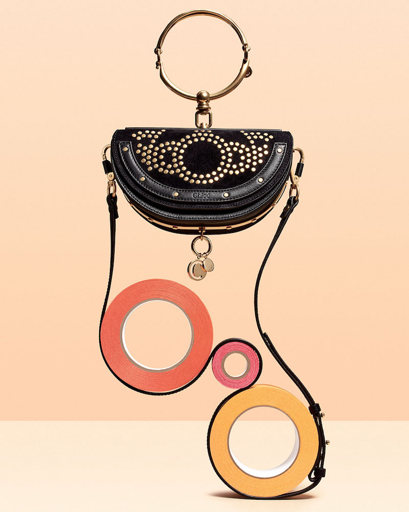 Chloé Nile Small Studded Bracelet Minaudiere Bag