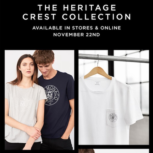 Club Monaco The Heritage Crest Collection Comes Back