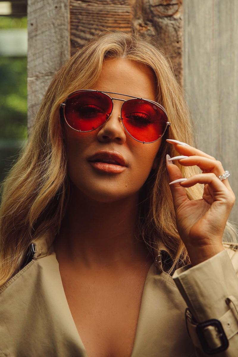 DIFF x Khloé Koko 63mm Oversize Aviator Sunglasses in Gold Red