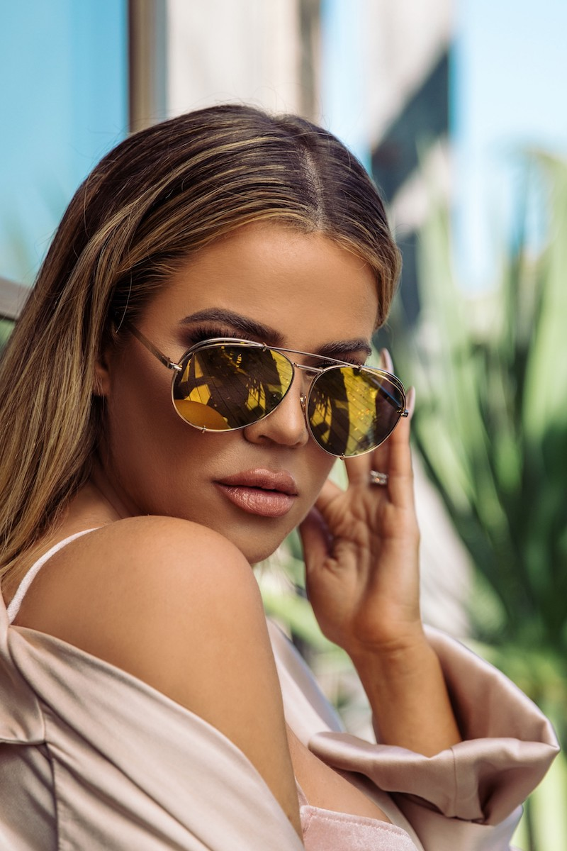 DIFF x Khloé Koko 63mm Oversize Aviator Sunglasses in Gold