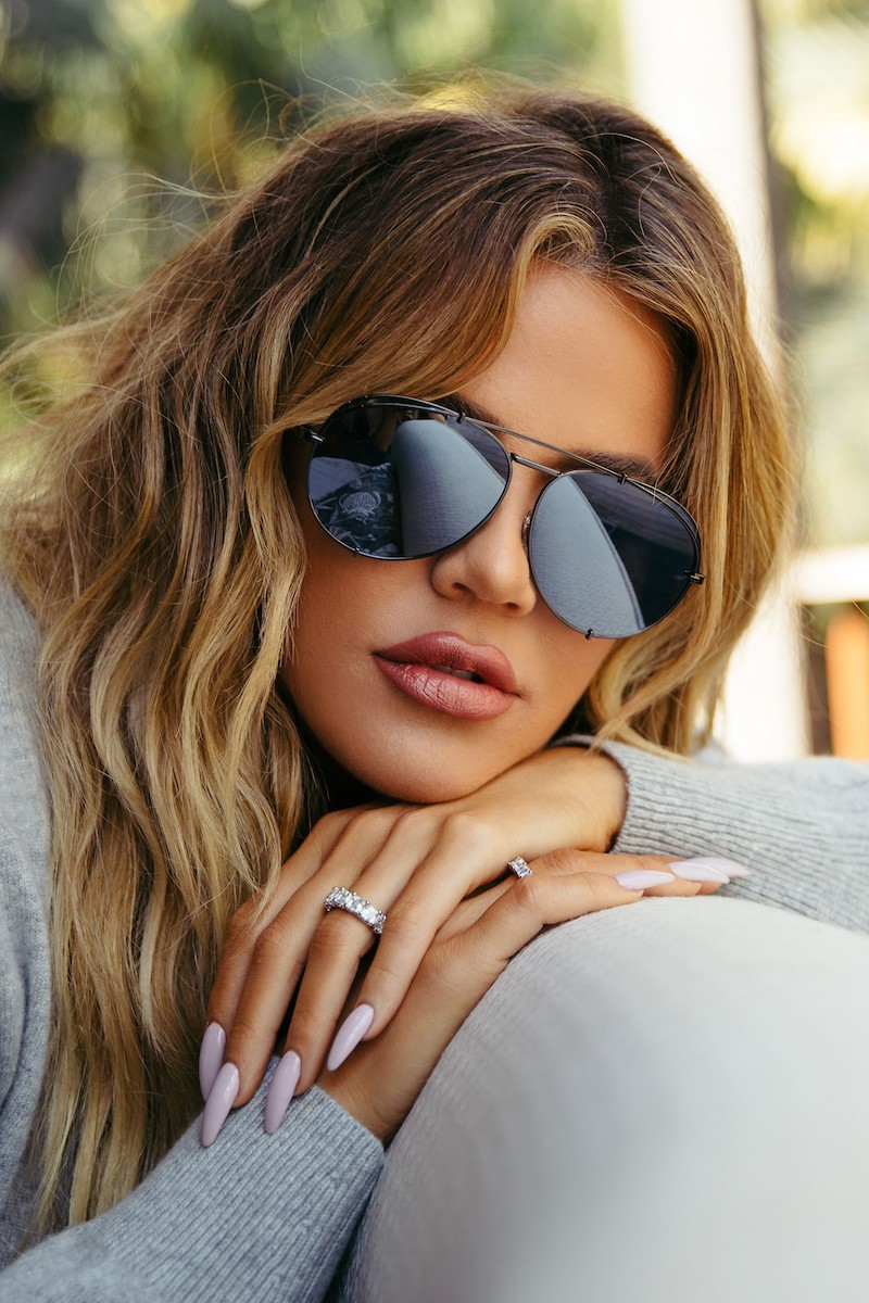 DIFF x Khloé Koko 63mm Oversize Aviator Sunglasses in Matte Black