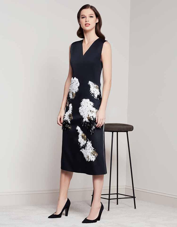Derek Lam Feather Dress
