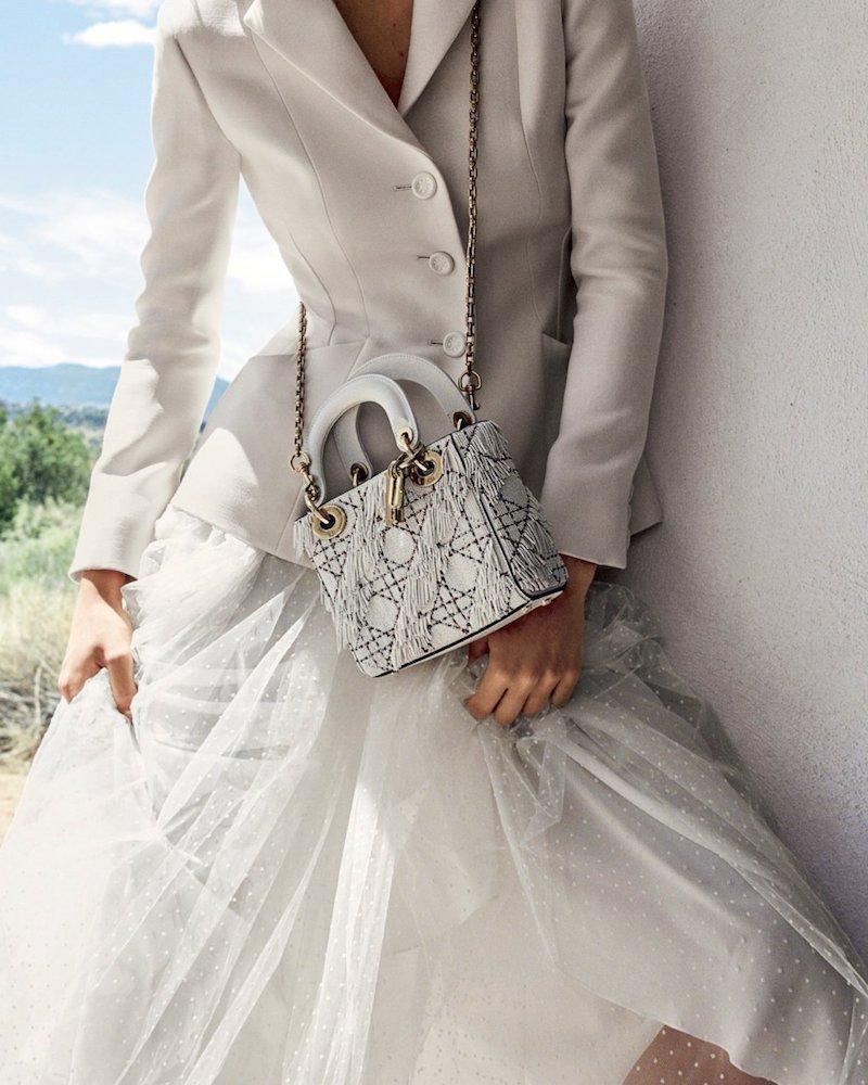 "Dior Mini ""Lady Dior"" Semi-structured Bag"