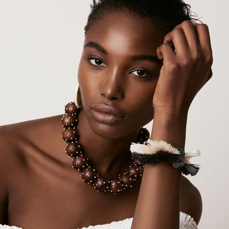 Elise Tsikis Ipsos Beaded Tassel White Bracelet