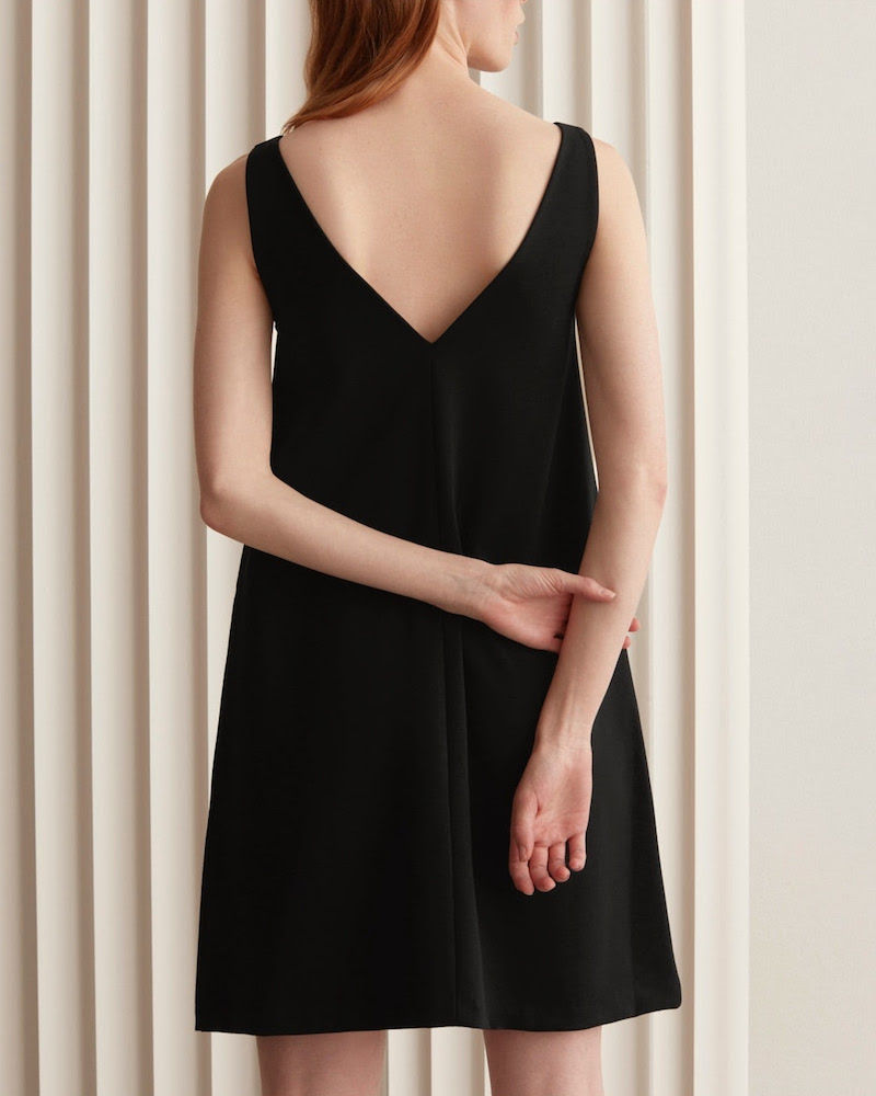 Everlane Deep V-Neck A-Line Dress