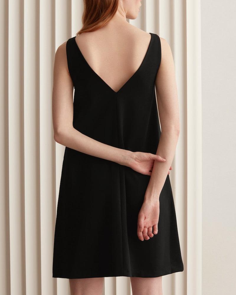 Everlane Deep V-Neck A-Line Dress