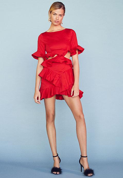 FAME AND PARTNERS x REVOLVE Xavier Ruffle Dress