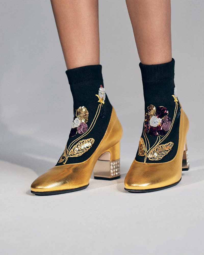 Gucci Candy Embellished Sock Bootie