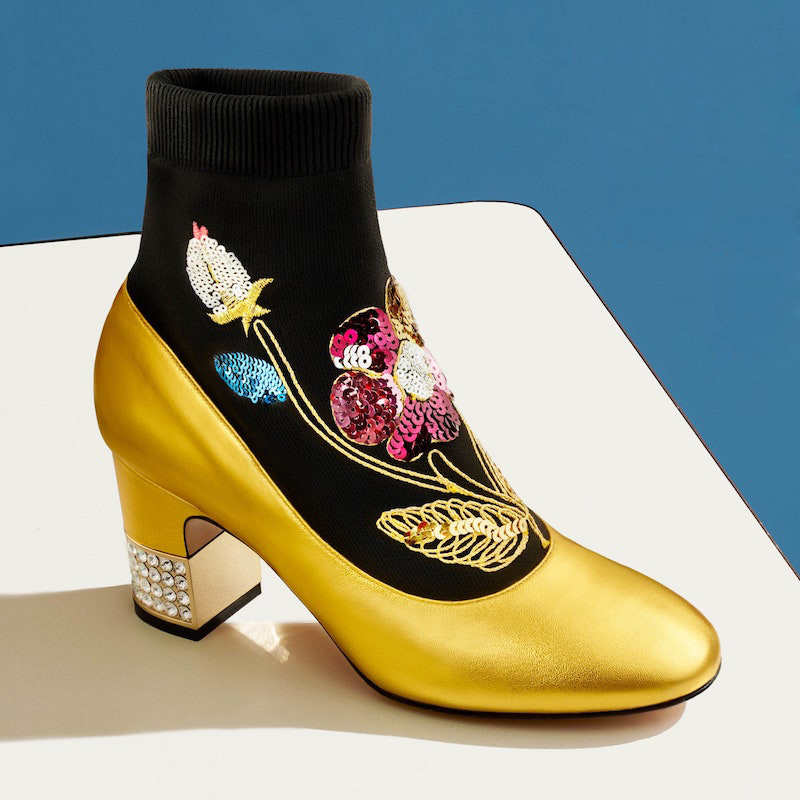 Gucci Candy Sock Ankle Boots