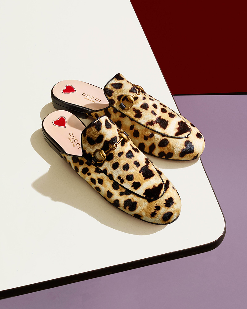 Gucci Princetown Calf Hair Slippers
