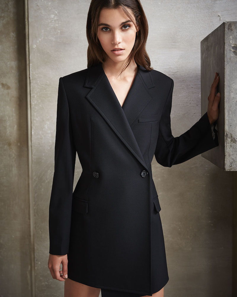 Helmut Lang Deconstructed Double-Breasted Wool Blazer