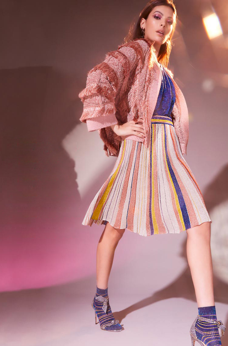 Intermix x Missoni Striped Lurex Skirt