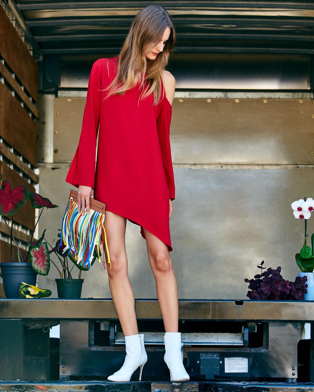 Iro Awati Cutout-Shoulder Shift Dress