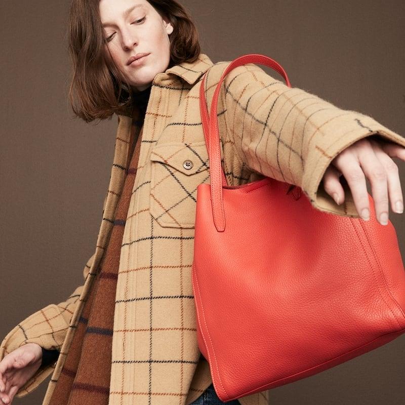 J.Crew Signet Tote Bag In Italian Leather