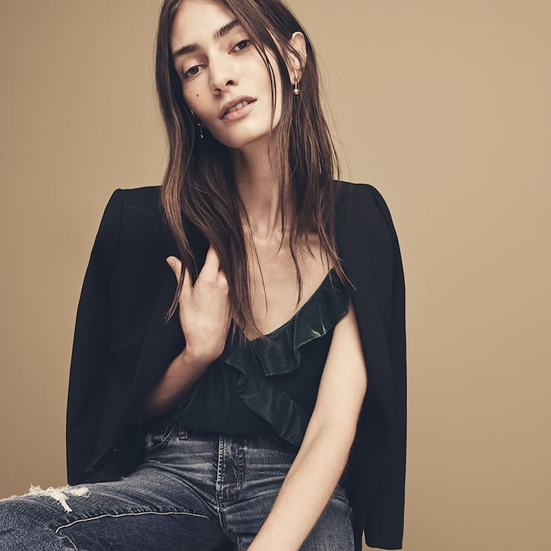 J.Crew Velvet Going-Out Top
