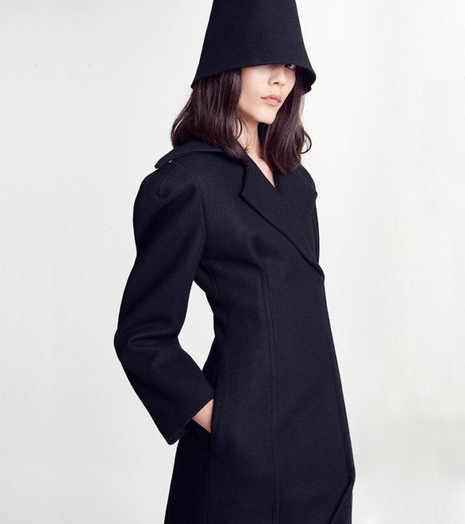 Jacquemus Oversize Lapel Wool Coat