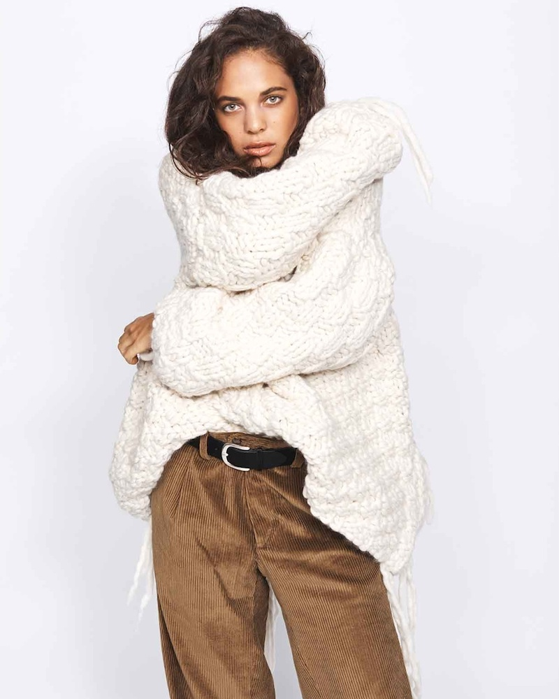 Joseph Osize Popcorn-Knit Wool Sweater