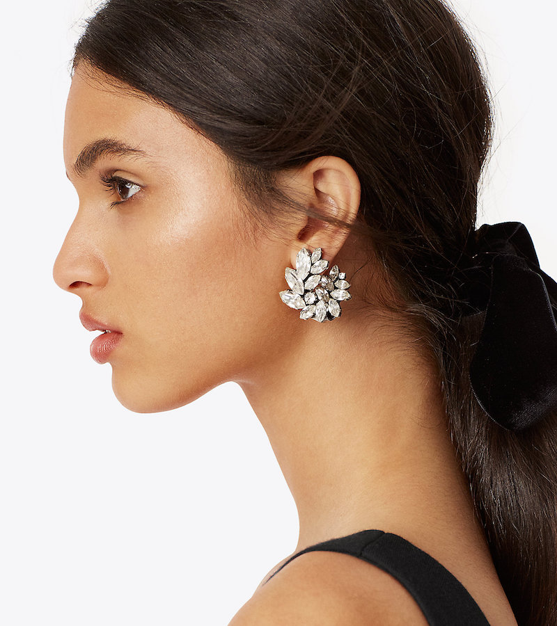 Kenneth Jay Lane for Tory Burch Embellished Cluster Earring