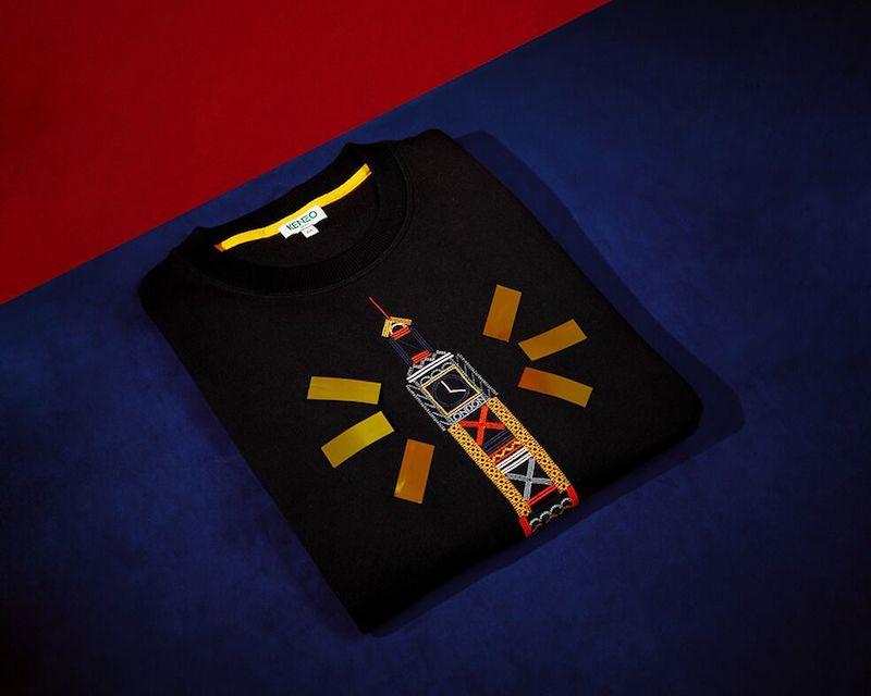 Kenzo Big Ben Cotton-Jersey Sweatshirt