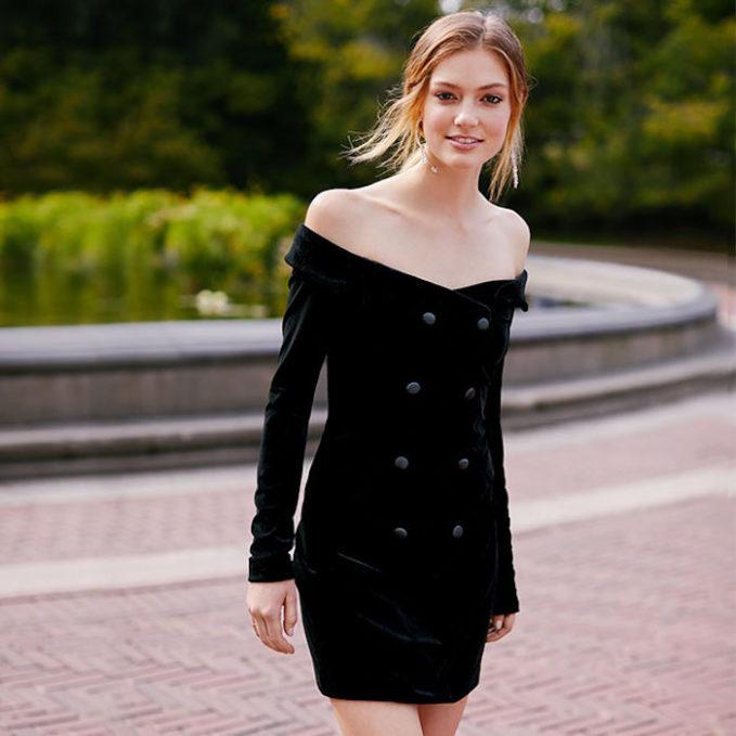 L'AGENCE Romilly Velour Jacket Dress