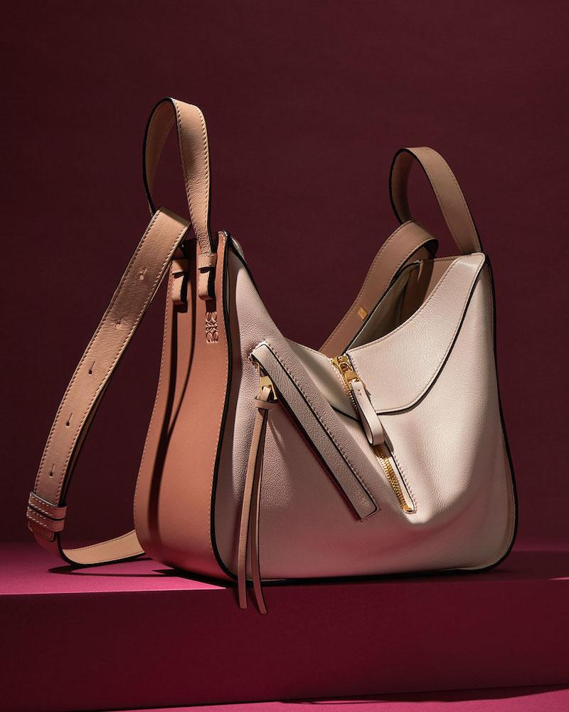Loewe Hammock Small Colorblock Leather Tote Bag