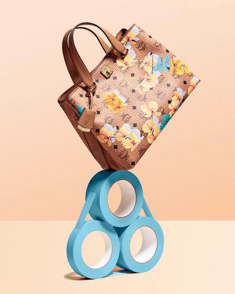 MCM Essential Floral-Print Coated Tote Bag