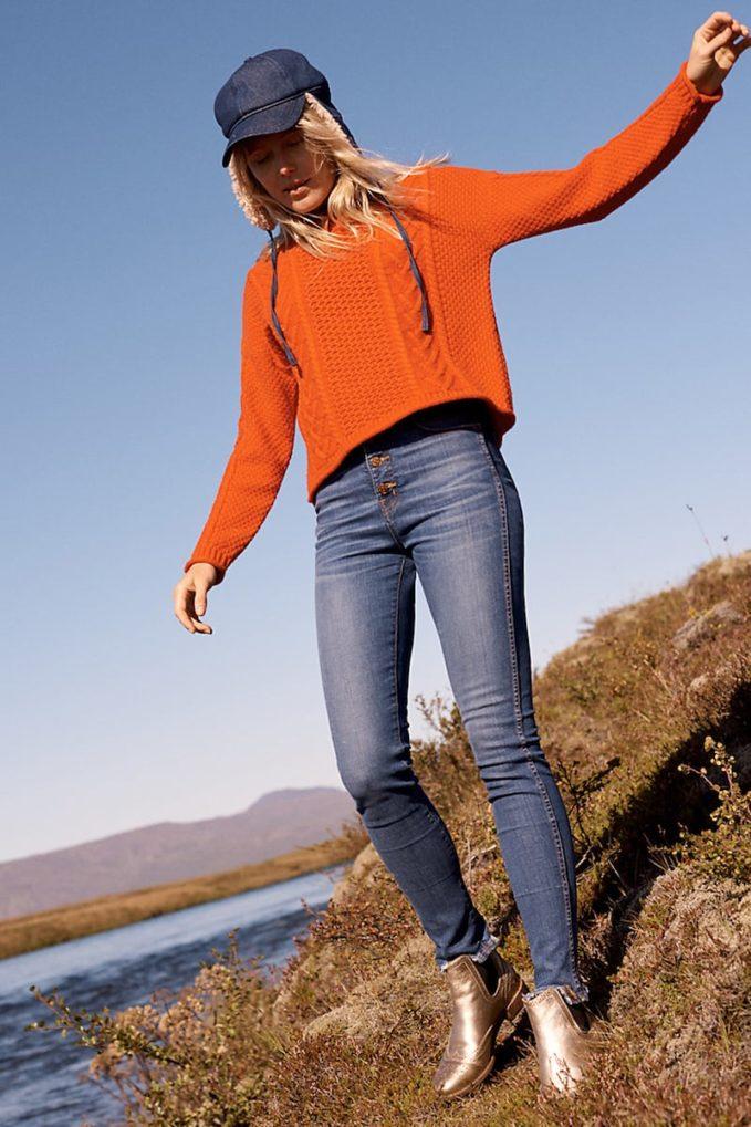 "Madewell 10"" High-Rise Skinny Jeans Chewed-Hem Edition"