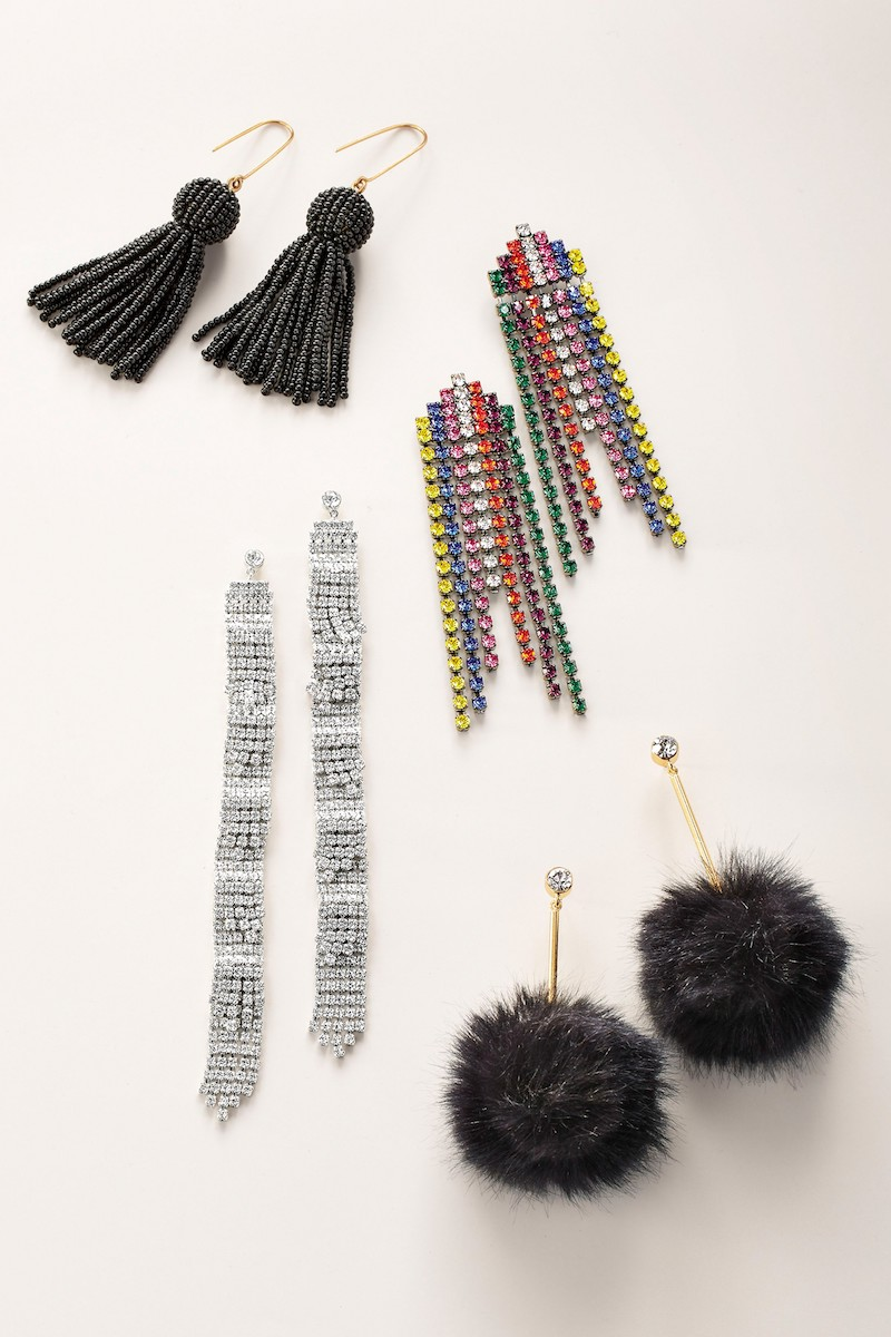 Madewell Bead Tassel Drop Earrings