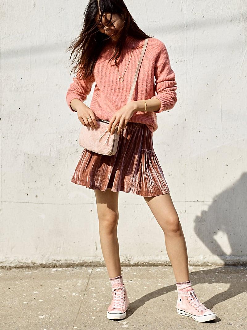 Madewell Crushed Velvet Mini Skirt