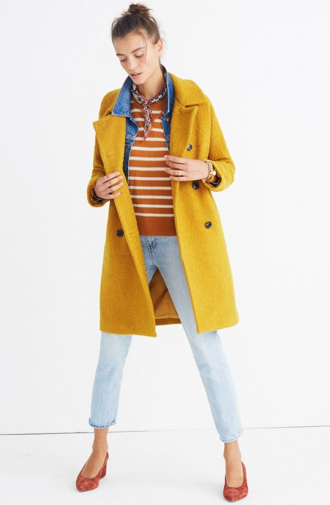 Madewell Double Breasted Bouclé Coat