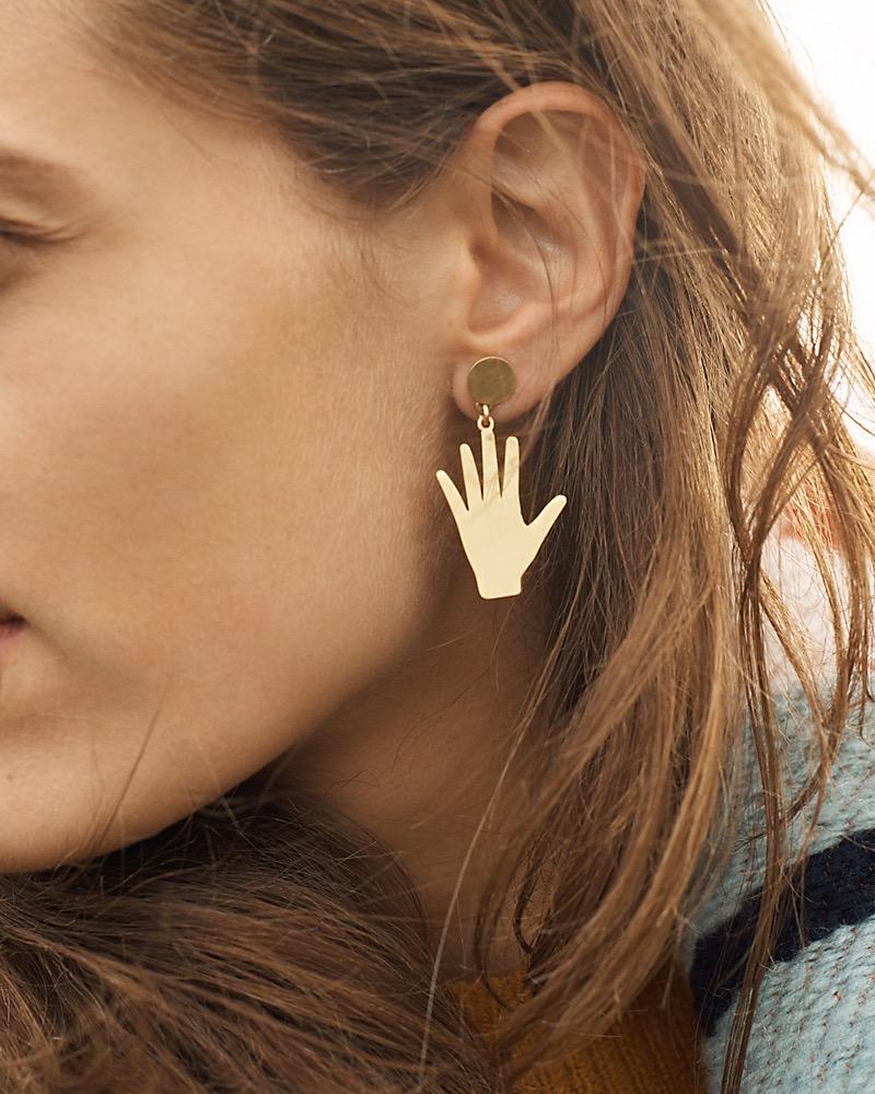 Madewell Hand Jive Statement Earrings