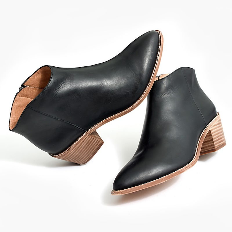 Madewell The Justine Boot In True Black