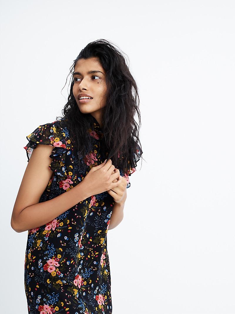 Madewell x No.6 Silk Beacon Dress In Garden Bouquet