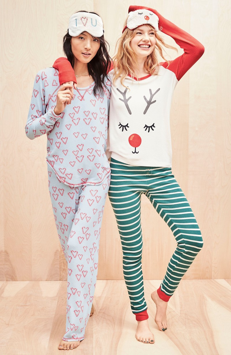 Make + Model Knit Girlfriend Pajamas & Eye Mask