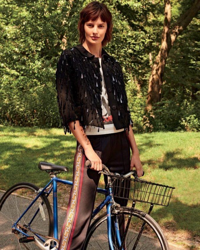 Marc Jacobs Paillette-Embellished 3 4-Sleeve Jacket