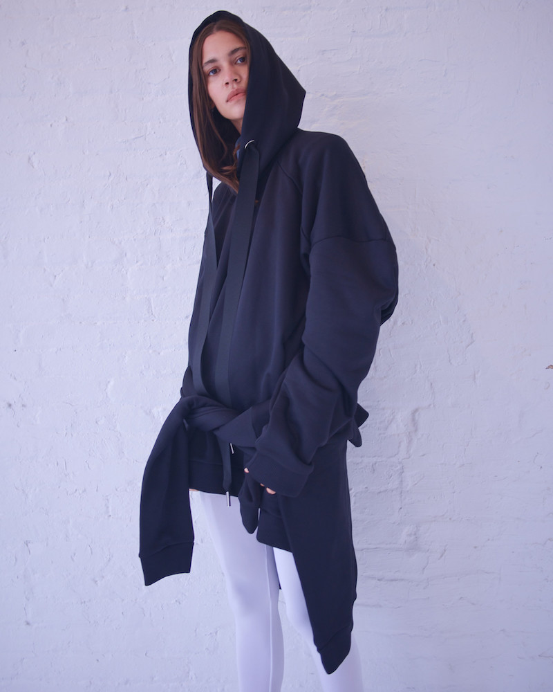 Marques'Almeida Black Asymmetric Hoodie