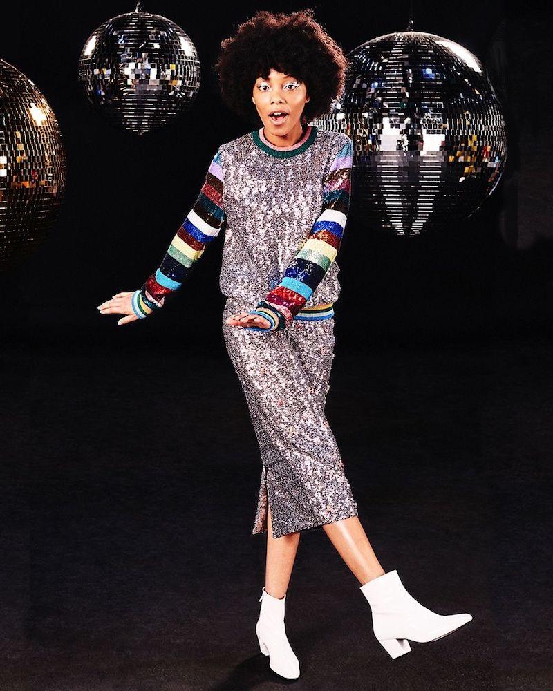 Mary Katrantzou Magpie Sequinned Sweatshirt