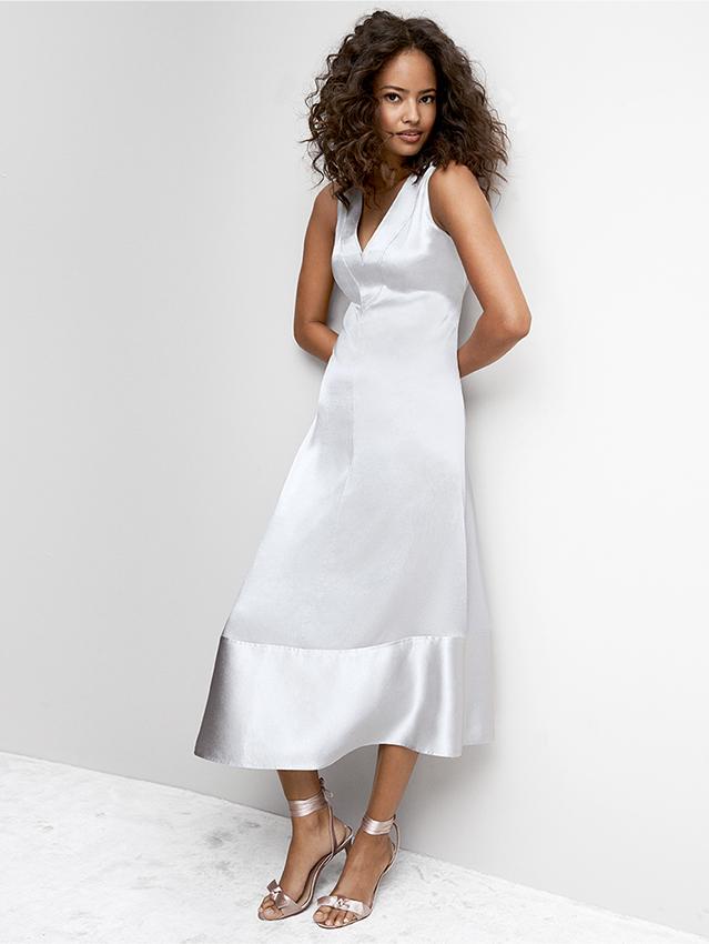 Anne Klein Double-V Asymmetrical Dress