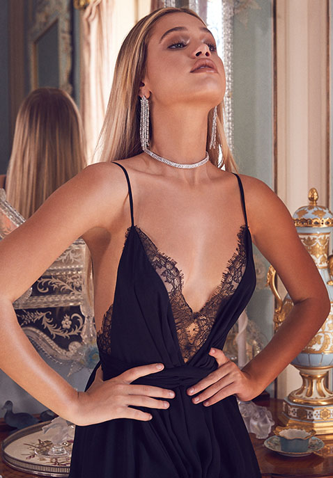 Michael Costello x REVOLVE Justin Gown in Black