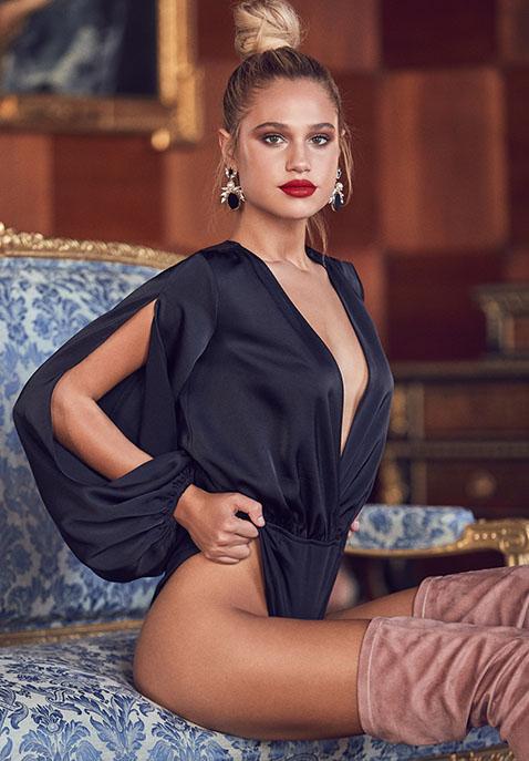 Michael Costello x REVOLVE Tavi Bodysuit in Black