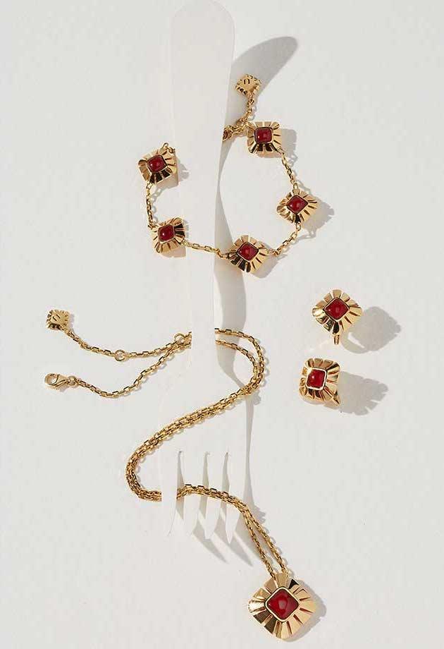 Miseno Vesuvio Carnelian & 18K Gold Pendant Necklace