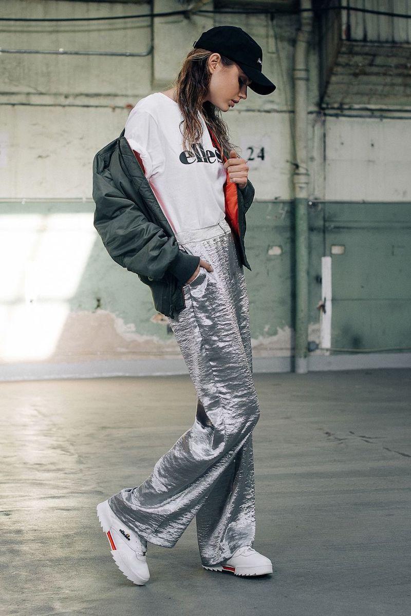 NA-KD Trend Metallic Flared Pants
