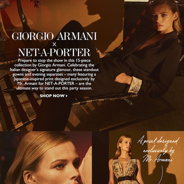 Giorgio Armani x NET-A-PORTER Fall 2017 Eveningwear Capsule Collection