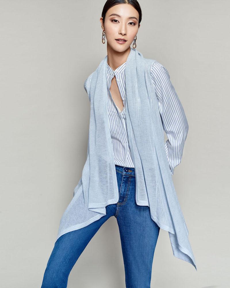 Neiman Marcus Cashmere Collection Superfine Cashmere Mesh Hooded Vest