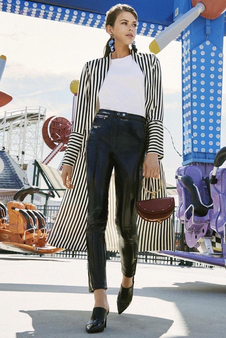 Olivia Von Halle Nika Striped Capability Robe