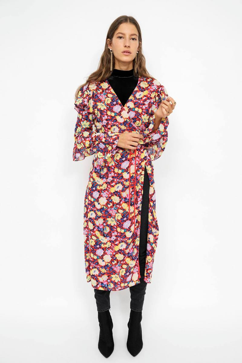 & Other Stories Frilled Wrap Dress