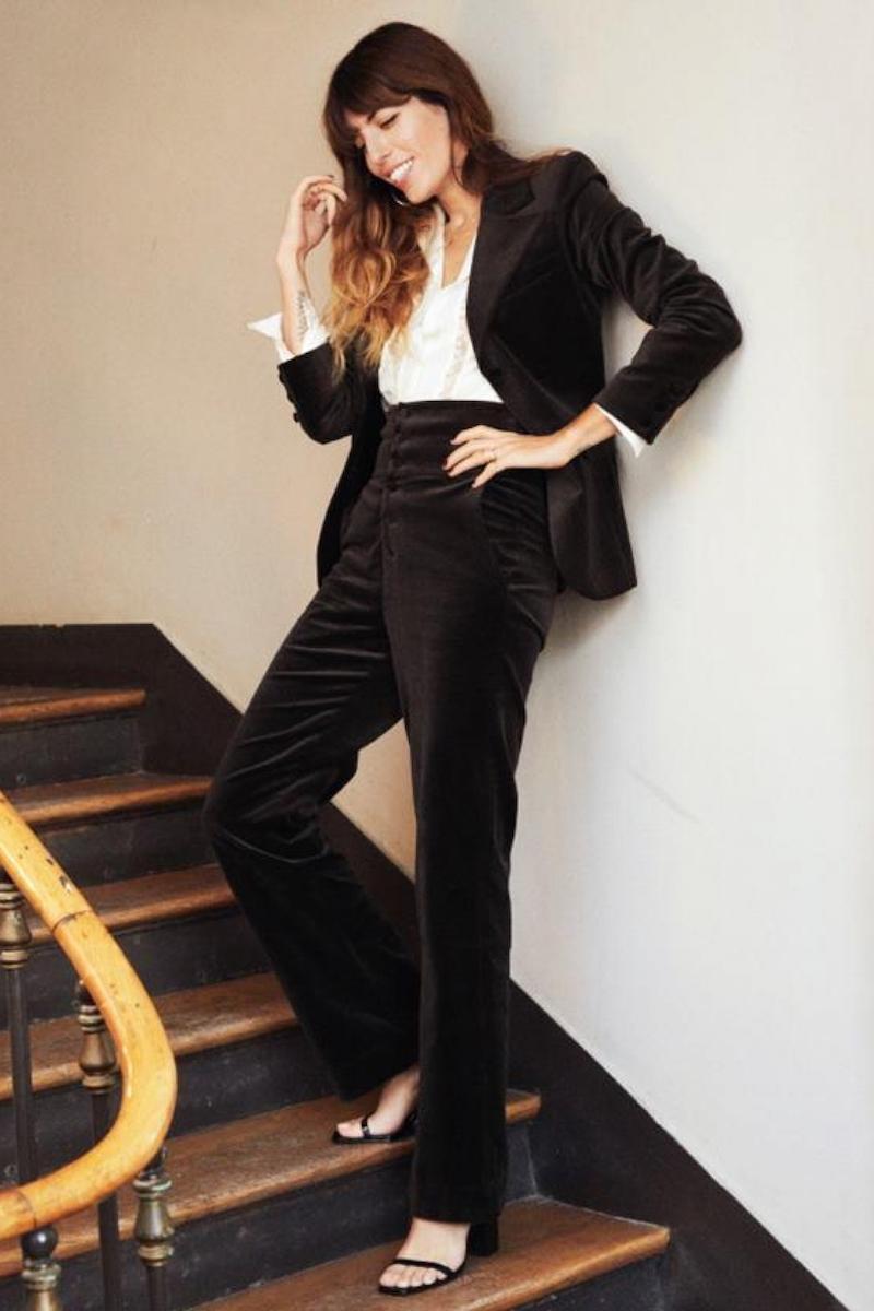 & Other Stories High Waist Velvet Trousers